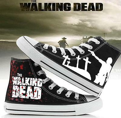 Walking Dead Casual Sneakers Canvas Shoes Unisex Game Cool