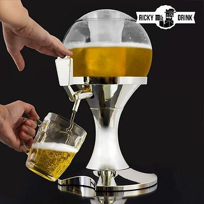 Beer Dispenser Bar Restaurant Party Cold Drinks Chill Fresh Cooling Tap 3.5 L