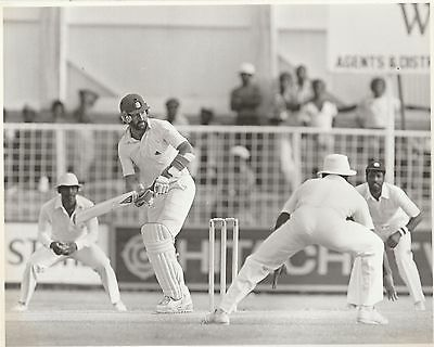 ENGLAND WEST INDIES Antigua 1981 black & white press photograph... Gooch Haynes