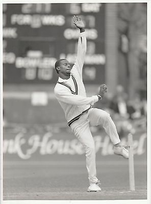 2 x HAMISH ANTHONY (West Indies) black and white press photographs... Glamorgan