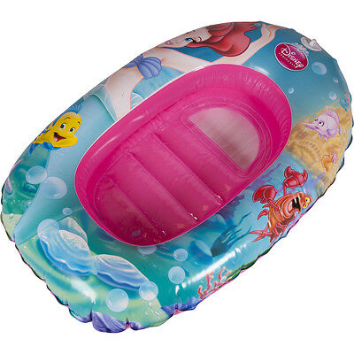 Disney Princess Inflatable Beach Boat Little Mermaid Float Swimming Raft Kids