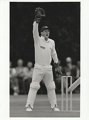 KEITH BROWN (Middlesex) black and white press photograph...