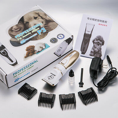 Professional Mute Pet Cat Dog Electric Fur Hair Cordless Clipper Trimmer Shaver