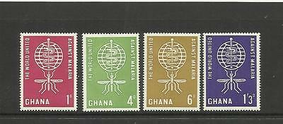 Ghana ~ 1962 Malaria Eradication ( Mint Set) Mh