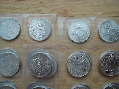 Russia 2014 Sochi winter Olympic Games 25 roubles coins set - 4 coins