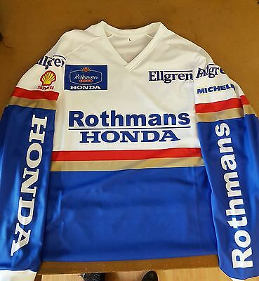 Rothmans Honda trials riding shirt
