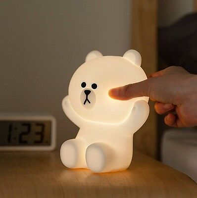 [LINE FRIENDS] HUG ME LED TOUCH LAMP BROWN Free FedEx