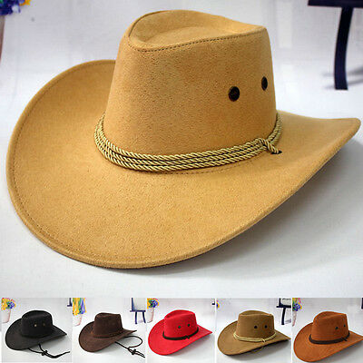 Classic Western Cowboy Hat Men Riding Cap Fashion Accessory Wide Brim Crushable