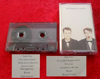 MC Pet Shop Boys - Actually - Musikkassette Cassette