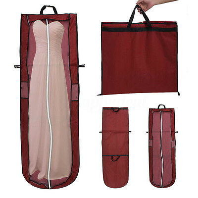 "UK 65"" Showerproof Long Garment Dress Cover Bridal Wedding Dresses Storage Bag"