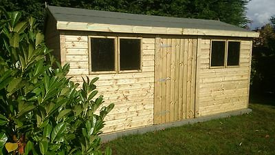 16x10 19mm Apex Tanalised EXTRA HEIGHT Shed