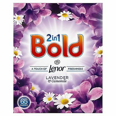 Bold 2-in-1 Lavender & Camomile Lenor Fresh Cleaning Washing Powder - 65 Washes