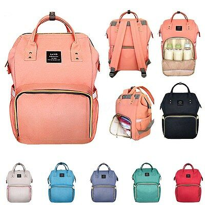 AU Multifunctional Baby Diaper Backpack Nappy Changing Bag Rucksack Waterproof
