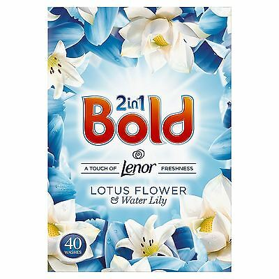 Bold 2-in-1 Lotus Flower & Lily Lenor Fresh Cleaning Washing Powder - 40 Washes