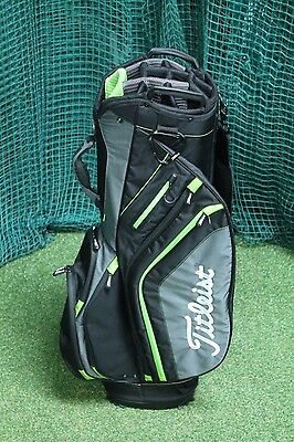Titleist Cart Bag / Green Black / 14-Way Divider / Tigtit009