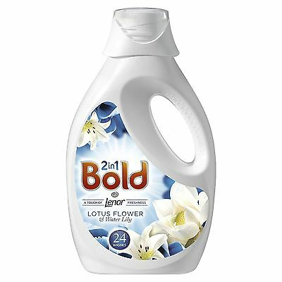 Bold 2-in-1 Compact Lotus Flower & Water Lily Lenor Fresh Washing Liquid 24 Wash