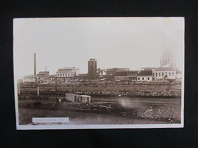 Vintage Photographic Postcard c.1920's Consett Ironworks Newcastle - Used