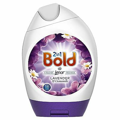 Bold 2-in-1 Lavender & Camomile Lenor Fresh Washing Gel Detergent - 16 Washes