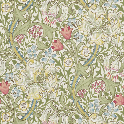 Golden Lily 210398 Wallpaper by William Morris
