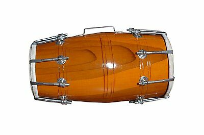 Wood Dholak Indian Folk Musical Instrument Drum Nuts N Bolt
