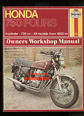 Honda CB750 SOHC 1969-1976 Haynes Shop Manual CB 750 Four F F1 K0 K1 K2 K-Series
