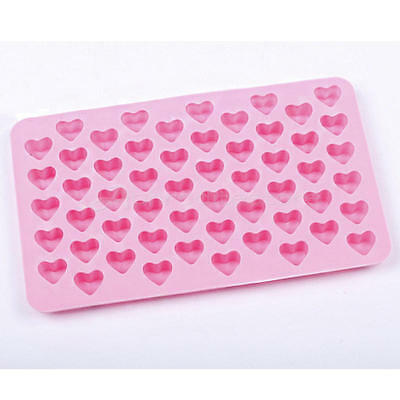 Silicone 55 minHeart Cake Chocolate Baking Ice Cube Soap Jelly Baking Mould Tray