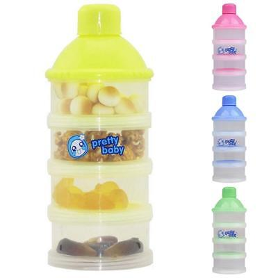 3piece Lot Baby Kid Formula Milk Powder Dispensers Snack Container Non-Spill