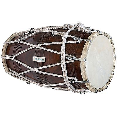 Made by Special Dholak (Dholki), Sheesham Wood with Tuning Spanner Good Deign
