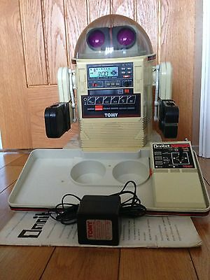 Tomy Omnibot 5402 Vintage Toy Robot Circa 1980s Full Working Order Rare To Find