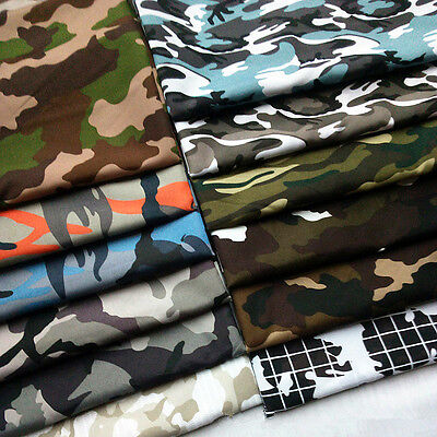 Camouflage Military Army Printed Fabric Camo Shirts Shorts Bags Material 1/3M