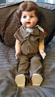 """SAUCY WALKER 1940's VINTAGE DOLL 22"""" IDEAL / ORIGINAL CLOTHING BEAUTIFUL DOLL!"""