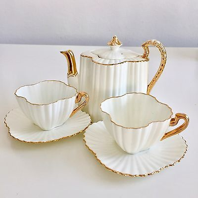 Stunning Tea for Two set, Wileman Alexandra shape 1889
