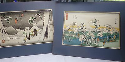 2pcs  Colour print Japanese Ando Hiroshige (1797-1858) painting