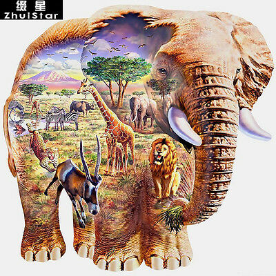 ELEPHANT MONTAGE FULL DIAMOND PAINTING KIT 5D CROSS STITCH MOSAICS 30x30CM