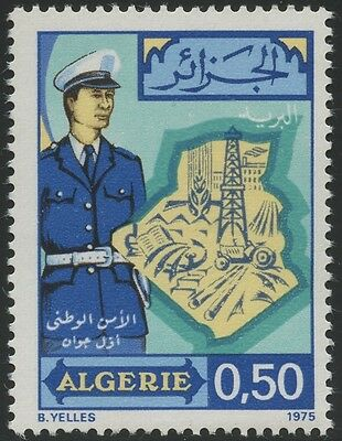 ALGERIE N°613** Sureté nationale, 1975 Algeria  National SecurityMNH
