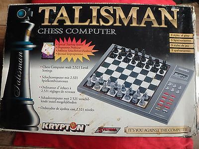 Vintage Talisman Krypton Systema Chess computer. BNIB Model 338