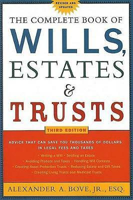 The Complete Book of Wills, Estates & Trusts,PB,Alexander A Bove - NEW