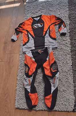 Childs Answer Motocross Top And Trousers Size 26 L Top Motorcross Bmx Ktm
