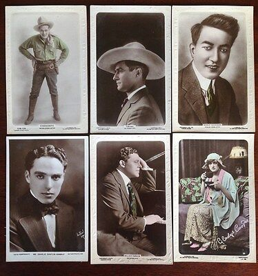 Rare Edwardian / Victorian Collectable Postcards of film stars including Chaplin