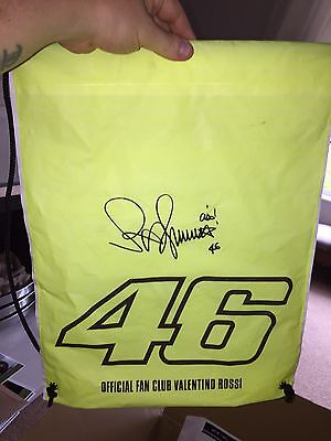 Signed Valentino Rossi official Fan bag. Stunning