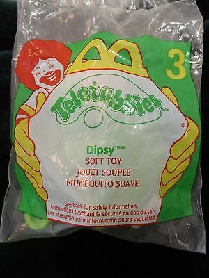Teletubbies McDonalds Happy Meal Dipsy Soft Toy Clip On Sealed From 2000