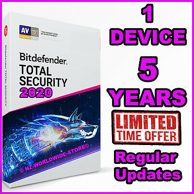 Bitdefender Total Security 2019 - 5 Years - 1 Device Activation - Download