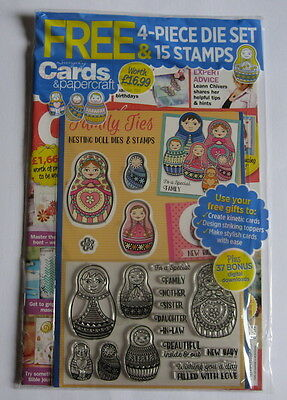 Simply Cards & Papercraft Magazine Issue 164 with Nesting Doll Dies & Stamps.