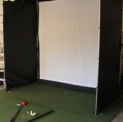Ultimate Golf Cage with 4 sided net and  screen 10 x 10 x 10 ** USES REAL BALLS*