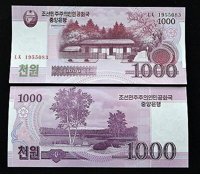 Korea 1000 Won 2008 Unc Banknote Currency Asien Papiergeld Paper Money