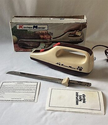 Vintage C1970's 1980's Kitchen Master Electric Carving Knife - In Original Box