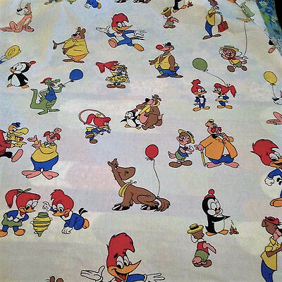 Walter Lantz  Woody Woodpecker Vintage Twin Fitted Sheet Chilly Willy Friends