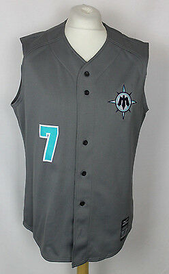 #7 Seattle Mariners Sleeveless Baseball Jersey Shirt Mens Medium Mizuno Rare