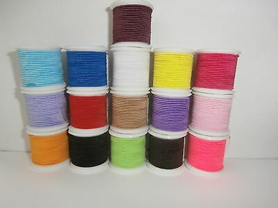 1mm ROUND QUALITY ELASTIC CORD FOR HATS / BEADING / CRAFTS.