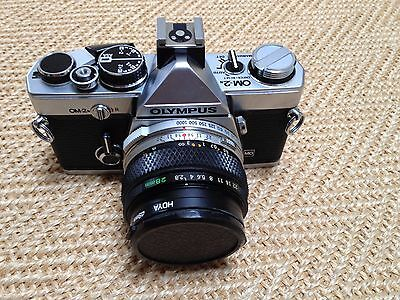 Olympus OM 2n 35mm SLR Film Camera with 28mm lens